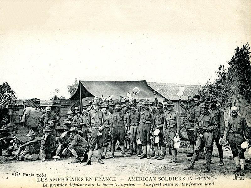 1er déjeuner des troupes américaines en France