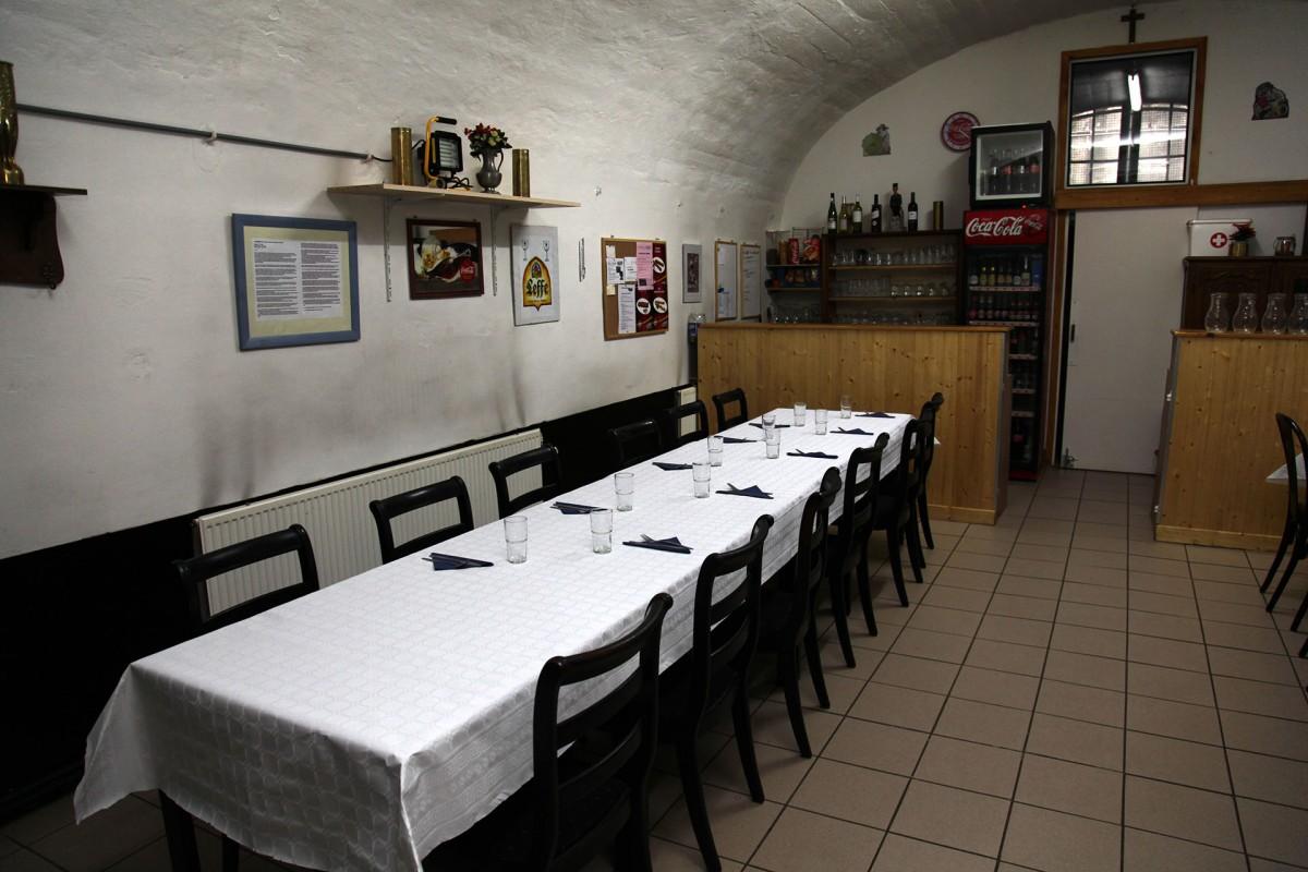 Fort de Lantin - Salle de restauration