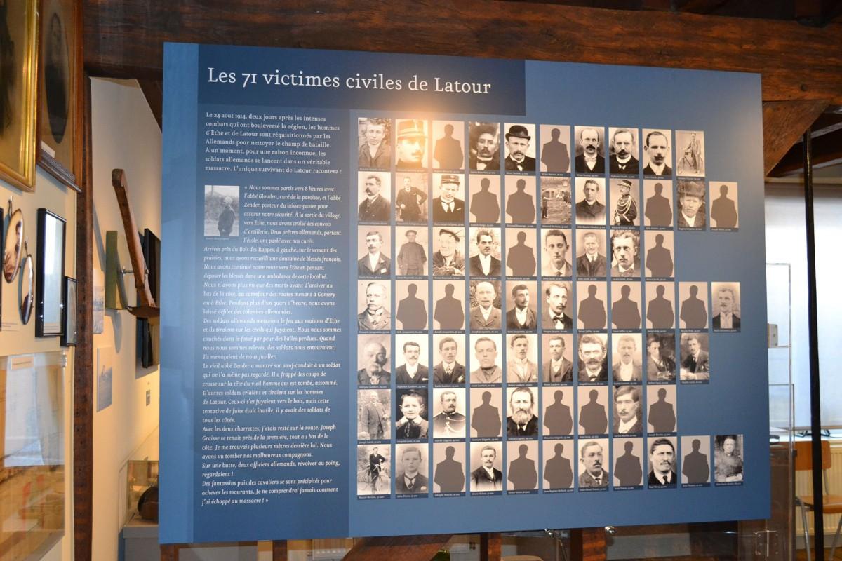 Musée Baillet Latour - Les 71 victimes civiles de Latour
