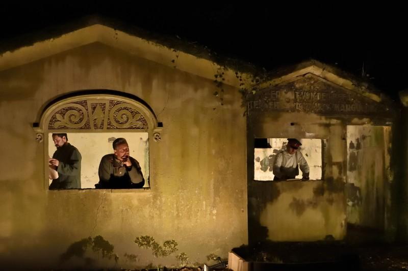 Kamp Marguerre bij nacht